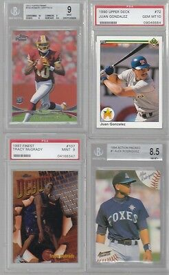 HUGE BASEBALL FOOTBALL BASKETBALL GRADED SPORTS CARD COLLECTION  RG3 GRIFFEY JR