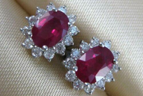 ESTATE 2.48CTW DIAMOND RUBY 14K WHITE GOLD DIANA … - image 1