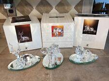 "SWAROVSKI CRYSTAL ""INSPIRATION AFRICA"" ELEPHANT- KUDU- LION  IN BOX 1993 1995"