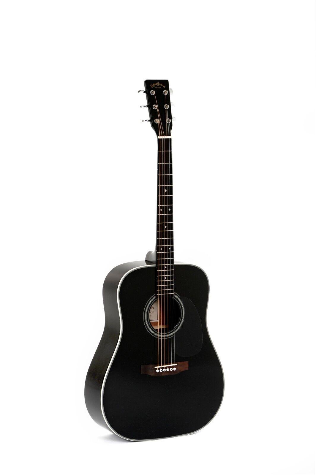 Sigma 1 Series Steel-Stringed Akustische Gitarre - DM 1ST BK Schwarze Oberfläche