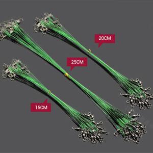 60pcs-Trace-Wire-Leader-en-Acier-Inoxydable-Ligne-de-peche-dirigeants-avec-Snap-amp-pivotant