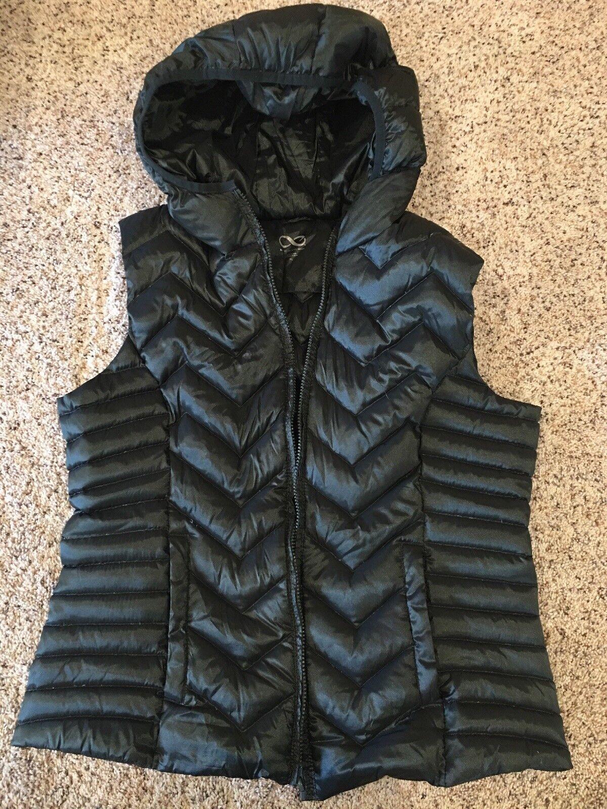 white black Woman's Woman's Woman's Down Vest XL e9e8f2