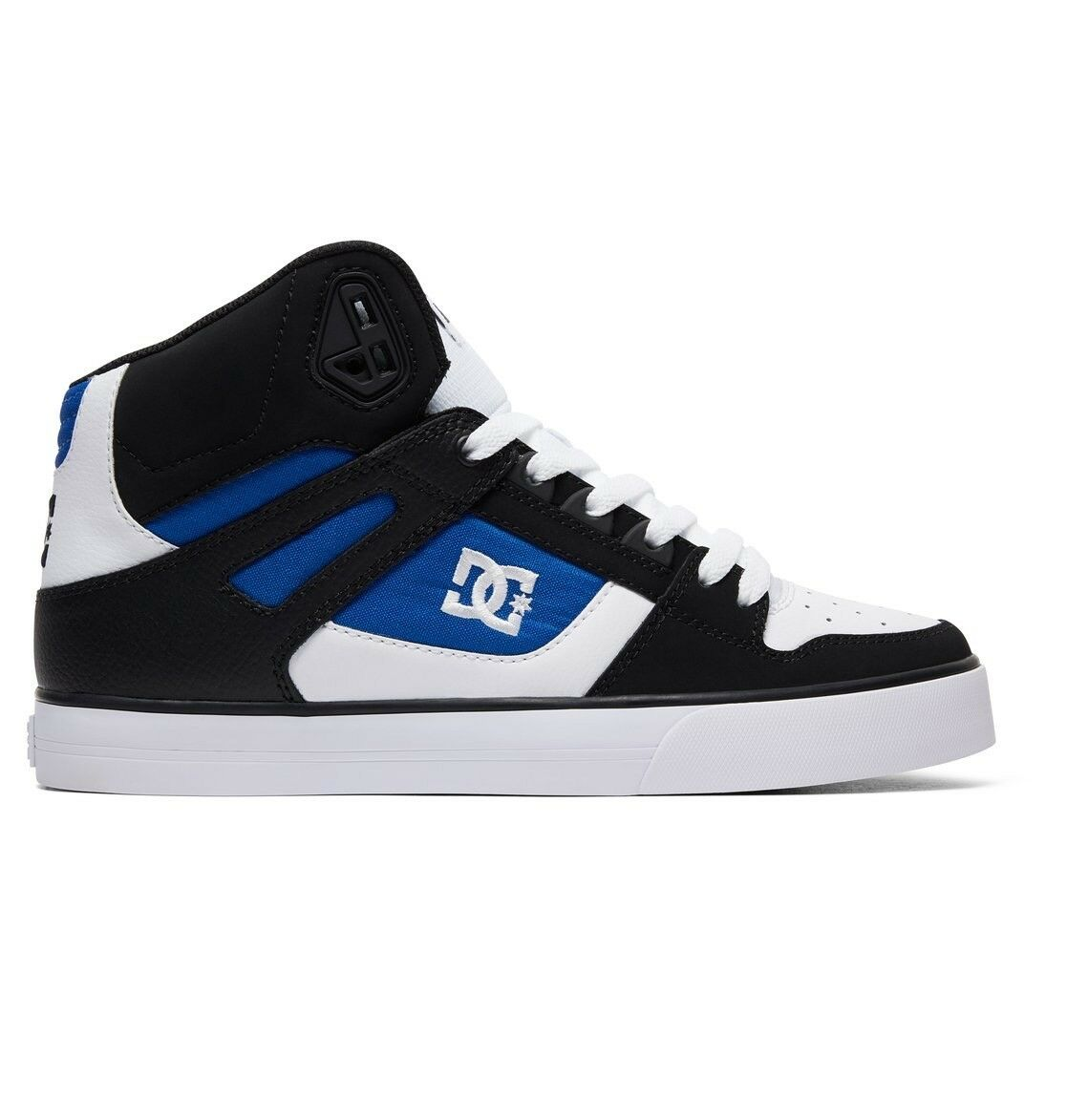 DC SHOES PURE HIGH TOP WC WHITE BLUE BLACK TRAINERS (SPARTAN HIGH)