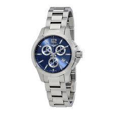 Longines Conquest Chronograph Blue Dial Ladies Watch L3.379.4.96.6