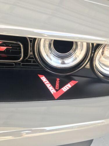 Hellcat Challenger headlamp Intake Decal
