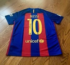 Genuine Hand Signed Lionel Messi New Season Shirt 2016/17 Barcelona Jersey & COA