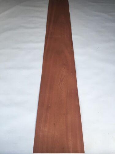 Mahogany Veneer NATURAL WOOD Sheet 61.8 x 8.6 inches 1570mm x 220mm