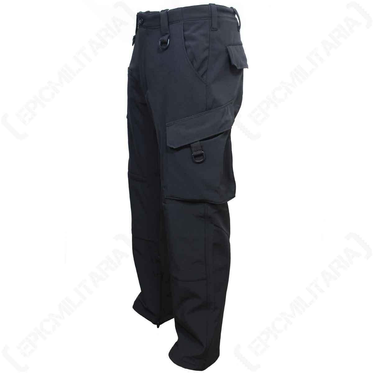 black Softshell Explorador Pantalones - Al Aire Libre Agua Resistente Forrado