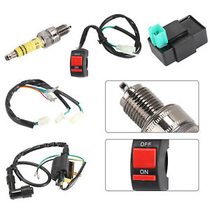 Wiring-Loom-On-Off-Switch-Coil-CDI-Spark-Plug-Kit-For-110cc-125cc-140cc-Pit-Bike