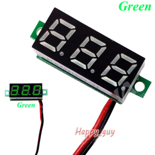 DC 2.4V-30V Digital Voltage Meter Panel Gauge 5V 12V 24V Car Battery Voltmeter
