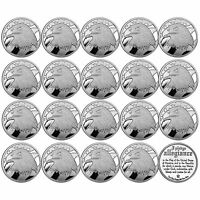 LOT of 20 Pledge of Allegiance Silver Eagle 1oz by SilverTowne