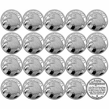 LOT of 20 Pledge of Allegiance Silver Eagle 1oz