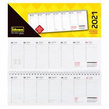 Schreibtischkalender 2021  Glocken  1 Woche = 1 Seite  50-719 21 Querkalender