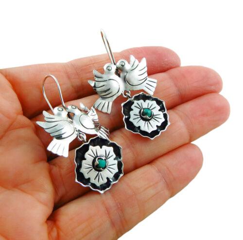 Lovebirds 925 Sterling Taxco Silver Maria Belen Bird Earrings Gift Boxed