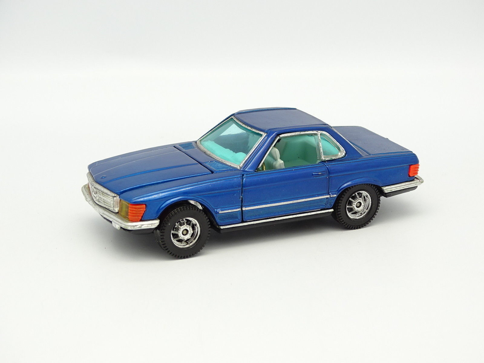 Corgi spielzeug - mercedes 350 sl blau  1,43