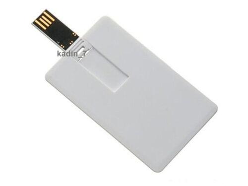 Lot 5 16GB Credit Card USB Flash Drive 16G Pen Memory Stick Wholesale Bulk Pack