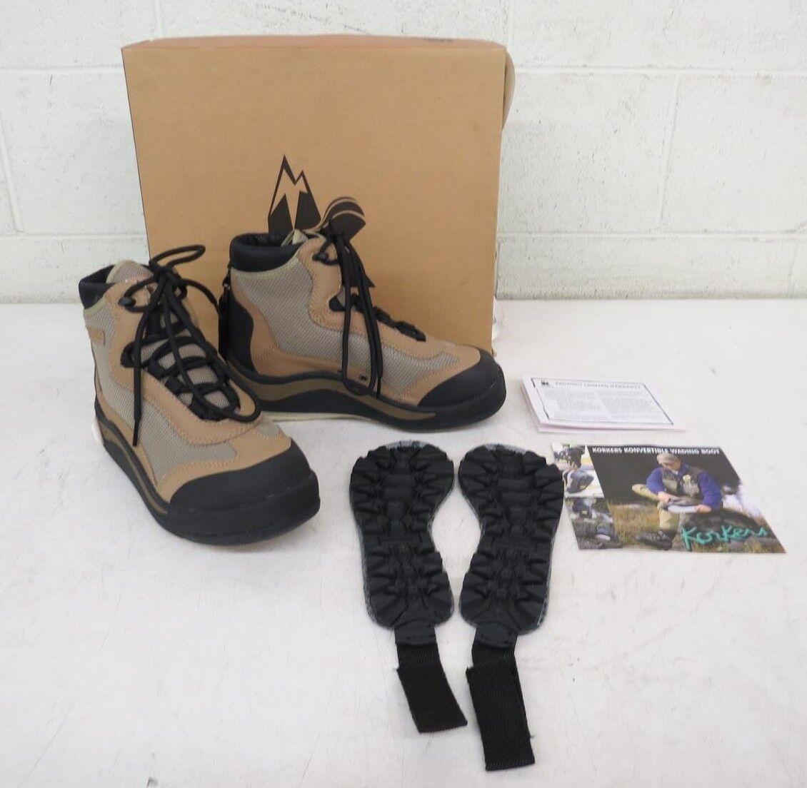Korkers los humedales K7300 Konverdeible botas de vadeo nos suelas de goma Fieltro 5 Nuevo
