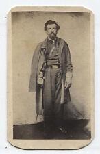 CIVIL WAR SOLDIER CDV FULL UNIFORM INCLUDING RIDING DUSTER AND SABER. N.Y.