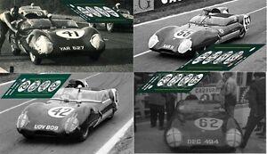 Calcas-Lotus-XI-Eleven-Le-Mans-1957-41-42-55-62-1-32-1-24-1-43-1-18-slot-decals