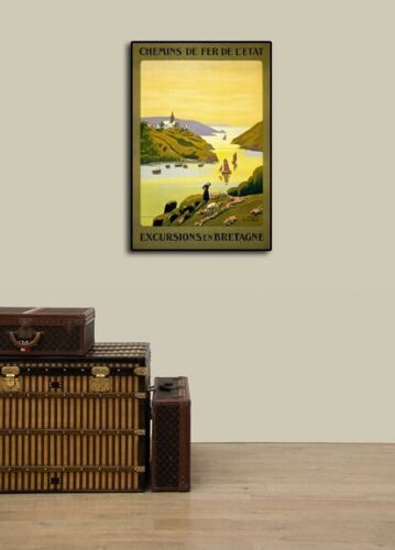16x24 1940s Excursions en Bretagne France Vintage Style French Travel Poster