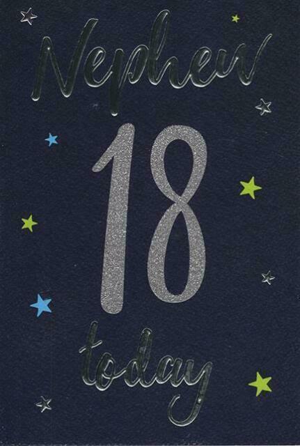 18th BIRTHDAY CARD AGE 18 ~ SILVER 18 DESIGN  ~ QUALITY CARD /& NICE VERSE