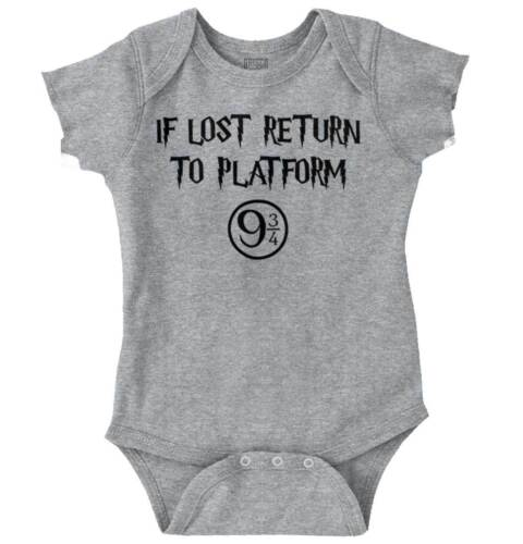 If Lost Return To Magic Wizard School Nerdy Newborn Romper Bodysuit For Babies