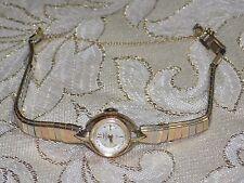 Ladies Vintage Dainty WALTHAM 17 J 10KT RGP JB Band Hand Wind Mechanical Watch