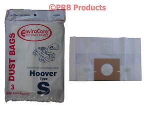 Type S Hoover 4010100S Vacuum Bags Model Power Turbo Max Spectrum Windtunnel