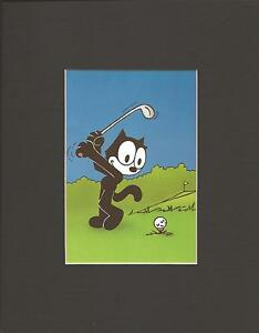 FELIX THE CAT~8 x 10 Mat Print~GREAT DAY FOR A ROUND OF GOLF~NEW