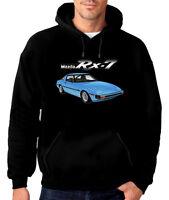 79' 80' Mazda Rx7 Series 1 13b Rotary Engine Quality Black Hoodie