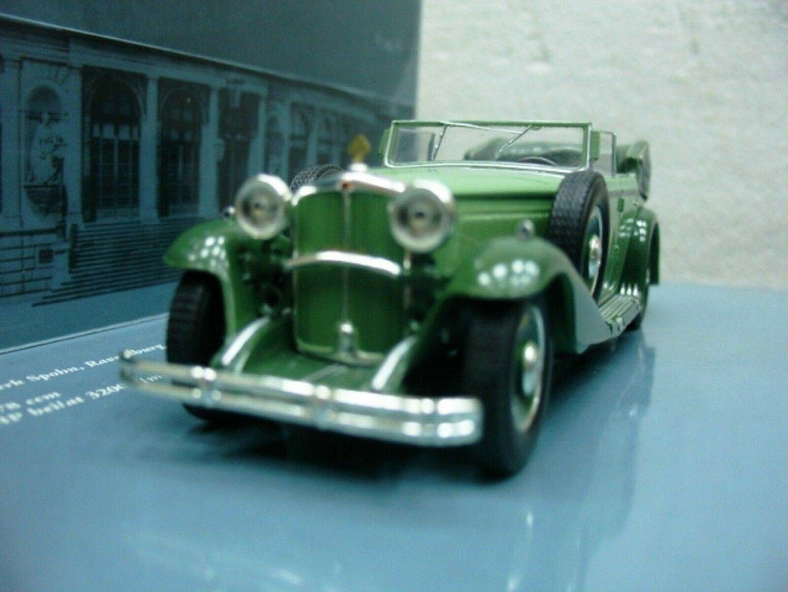 WOW EXTREMELY RARE Maybach DS8 Zeppelin Cabriolet 1932 Green 1 43 Minichamps-855