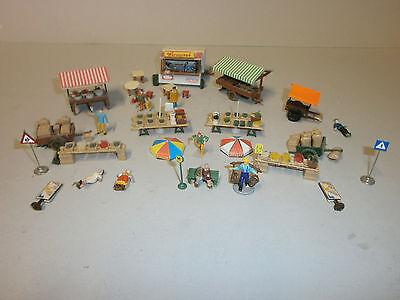 Wochenmarkt Marktstände Imbiss Figuren Vollmer + andere H0 Fertig gebaut