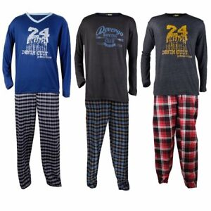Herren-Pyjama-100-Baumwolle-verschiedene-Designs