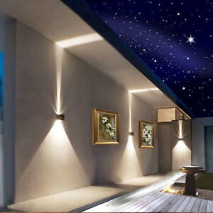 Details About Modern Led Wall Lamp Indoor Outdoor Up Down Sconce Light Bedside Lamps Homehold