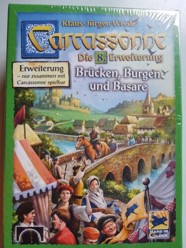 Englische Rules Carcassonne Erweiterung Bridges Burgen & Basare Neu