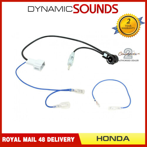 CT27AA176 DIN /& ISO Antenna Adapter with Phantom Power Supply for Honda Civic