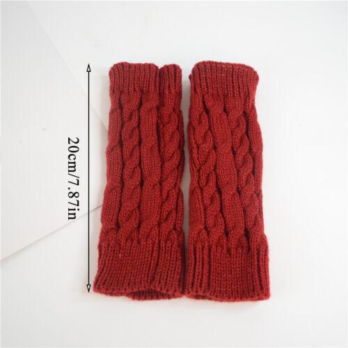 Women Gloves Hand Warmer Winter Glove Women Arm Knitting Faux Wool Mitten Gloves