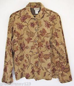 2fe37147029 Image is loading COLDWATER-CREEK-Floral-Jacket -Blazer-Jacquard-Multi-Colored-