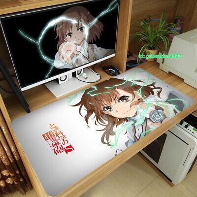 Anime To Aru Kagaku No Railgun Large Mouse Pad Game Play Mat 40*70cm #14 Gift