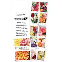 USPS New Botanical Art booklet of 10