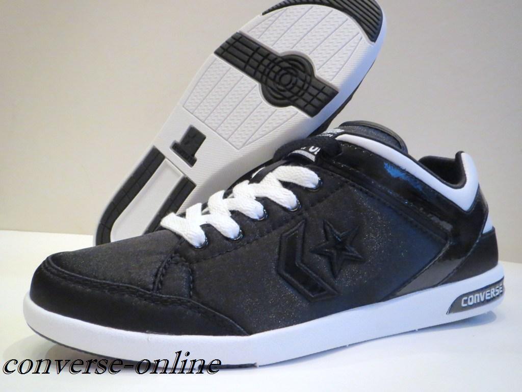 Femmes Converse All Star Noir arme Blanc arme Noir Ox Low Baskets Chaussures Taille UK 5 cbbfba