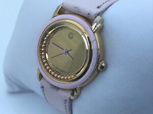 GIORDANO-Women-Watch-Pink-Genuine-Leather-Band-Unique-Wrist-Watch-Japan-Movement