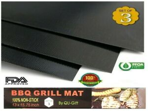 3PCS-Pack-Kitchen-Grill-amp-Bake-Mats-Outdoor-BBQ-Reusable-US-Seller-Fast-Shipping