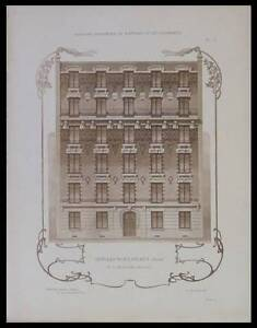 ISSY-LES-MOULINEAUX-DUNKERQUE-PLANCHES-ARCHITECTURE-1900-WULLIAM-MOREL
