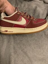 748981 002 Sz 6Y Nike $80 AIR FORCE 1 Premium Grade School Platinum Sneakers