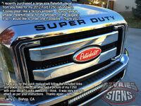 Domed Peterbilt Ford Emblem Overlays 3m™ F-150 Super Duty Ranger Expedition Wow