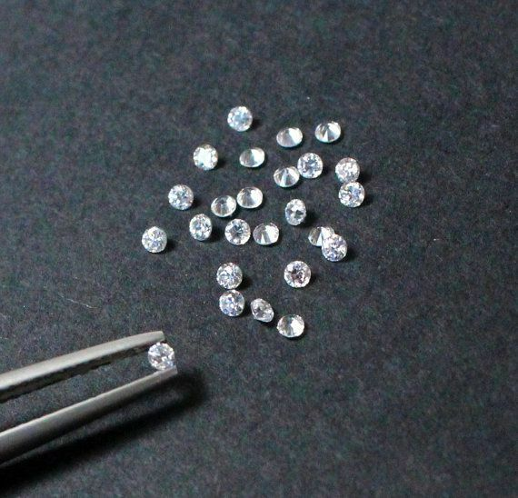 NATURAL 0.03 CT*5 PC LOT 0.15 TCW G COLOR SI CLARITY 2 MM LOOSE DIAMOND GKF#07