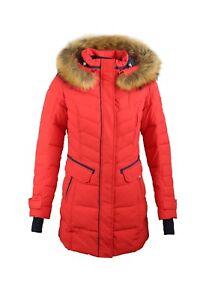 best authentic f137d af423 Details zu SICB G510 Winterjacke Damen Echtfell Kapuze Parka von Snowimage  Bio-Daunen