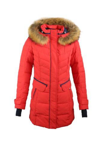 SICB G510 Winterjacke Damen Echtfell Kapuze Parka von Snowimage Bio-Daunen