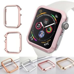 free shipping 6bd07 7e3f0 Details about For Apple Watch Series 4 40mm/44mm Metal Bumper Aluminum  Protective Case Cover
